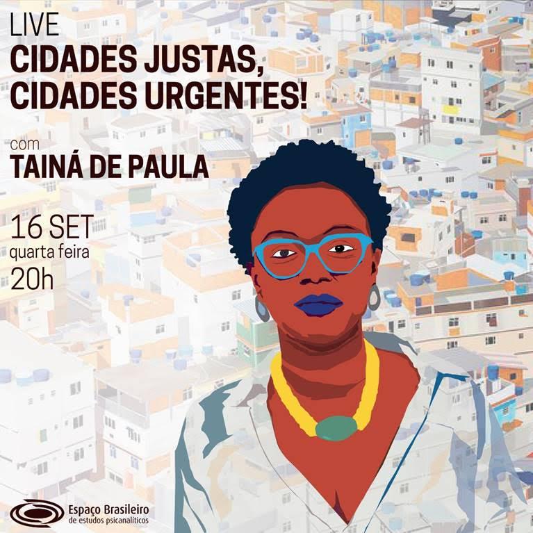 Live Tainá de Paula - Cidades Justas, cidades urgentes!